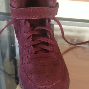 "Nike Shoes - Dark red ""Nike airforces 1"""